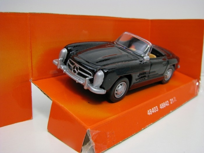 Mercedes-Benz 300SL Roadster 1957 Black 1:43 Rappa